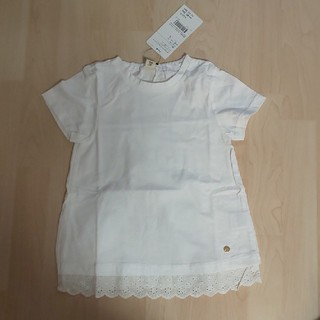 キムラタン(キムラタン)の定価2581円 キムラタン ドルチーナ レーシー 白色Tシャツ(Tシャツ/カットソー)