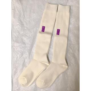 セシール(cecile)のハイソックス2足 白 ホワイト 靴下 23〜25  セシール(ソックス)
