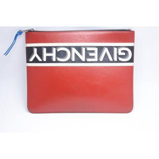 ジバンシィ(GIVENCHY)のジバンシイ ロゴ 新型 クラッチバッグ ブラック レッド ホワイト 中古(セカンドバッグ/クラッチバッグ)