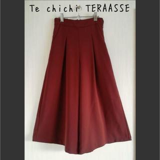 テチチ(Techichi)の美品 テチチテラス Te chichi TERAASSE ワイドパンツ ボルドー(その他)