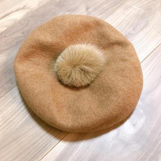 ビューティアンドユースユナイテッドアローズ(BEAUTY&YOUTH UNITED ARROWS)のUNITED ARROWS ファー付きベレー帽(ハンチング/ベレー帽)