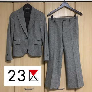 ニジュウサンク(23区)の23区 カシミヤ配合 パンツスーツ(スーツ)