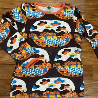 スマフォルク 98〜104 きのこ ねこ レトロ 長袖 ロンT(Tシャツ/カットソー)