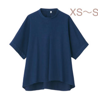 ムジルシリョウヒン(MUJI (無印良品))の無印良品   リヨセルコットンデニム五分袖ブラウス XS~S・インディゴブルー (シャツ/ブラウス(半袖/袖なし))