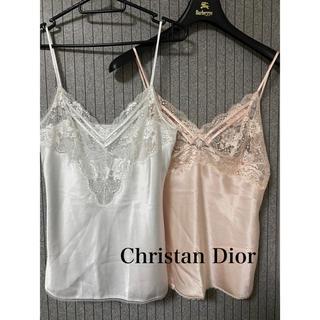 クリスチャンディオール(Christian Dior)のChristan Dior クリスチャンディオール タンクトップ キャミソール(キャミソール)