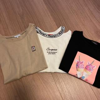レピピアルマリオ(repipi armario)の専用 襟ロゴカットTシャツ(Tシャツ/カットソー)
