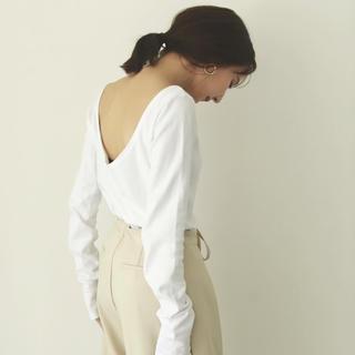 トゥデイフル(TODAYFUL)の【louren】 open back long Tshirt(Tシャツ/カットソー(七分/長袖))