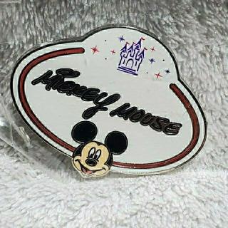 ミッキーマウス(ミッキーマウス)の香港ディズニーランド ミッキー ネームタグピンバッジ(バッジ/ピンバッジ)