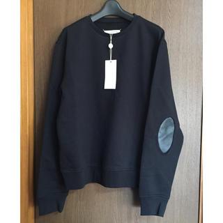 マルタンマルジェラ(Maison Martin Margiela)の50新品 メゾン マルジェラ エルボーパッチ スウェット シャツ オールブラック(スウェット)