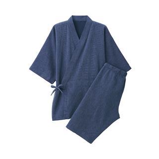 ムジルシリョウヒン(MUJI (無印良品))の無印良品 ワッフル織り 甚平 紳士M ・ ネイビー(Tシャツ/カットソー(半袖/袖なし))