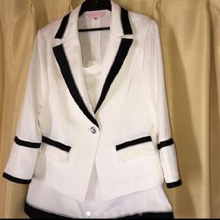 アンディ(Andy)のソブレ ホワイトストライプ バイカラースーツ (スーツ)