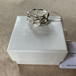 マルタンマルジェラ(Maison Martin Margiela)のM 新品 メゾン マルジェラ シルバー チェーン リング 指輪 メンズ(リング(指輪))