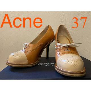 アクネ(ACNE)のAcne アクネ ハイヒール パンプス ウィングチップ ストレートチップ 37(ハイヒール/パンプス)
