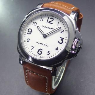 パネライ(PANERAI)の美品 E番 パネライ PAM00114 ルミノールベース 白文字盤 手巻き (腕時計(アナログ))