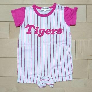 ハンシンタイガース(阪神タイガース)の◆値下げしました◆阪神タイガース ピンク ラッキーちゃんロンパース   80(ロンパース)