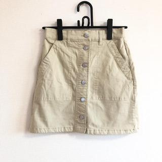 ウィゴー(WEGO)の【WEGO】台形スカート ベージュ(ひざ丈スカート)