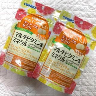 オリヒロ(ORIHIRO)のチュアブルサプリ マルチビタミン ミネラル 2袋(ビタミン)