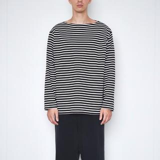 コモリ(COMOLI)のcomoli ボーダー ボートネック カットソー(Tシャツ/カットソー(七分/長袖))