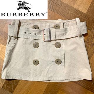 BURBERRY BLUE LABEL - ベルト付き!Burberry トレンチミニスカート