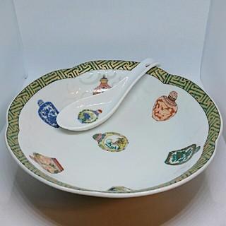 イセタン(伊勢丹)のチャイナシーズ 炒飯皿、レンゲセット(食器)