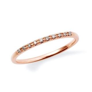 ザキッス(THE KISS)のザ キッス ハーフエタニティ K10 ダイヤ 0.04ct リング 1.5号(リング(指輪))