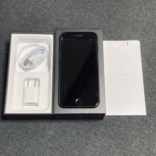 アップル(Apple)のiPhone7 128GB ジェットブラック au(スマートフォン本体)