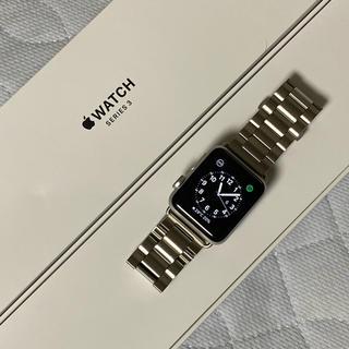 アップル(Apple)のApple Watch series3 38mm シルバー(腕時計(デジタル))