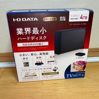 アイオーデータ(IODATA)のI-O DATA 外付けHDD 4TB (HDCZ-UT4KC)送料無料!(PC周辺機器)