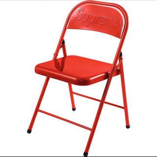 シュプリーム(Supreme)のMetal Folding Chair 赤 レッド red 椅子 チェア(折り畳みイス)