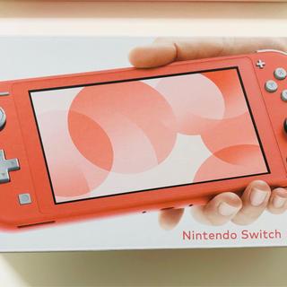 ニンテンドースイッチ(Nintendo Switch)の新品 switch ライトスイッチライト未開封コーラル(携帯用ゲーム機本体)
