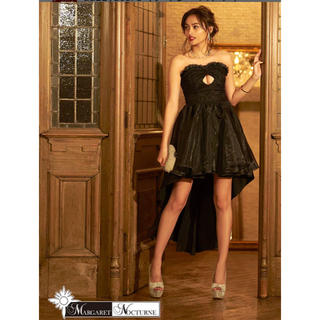 デイジーストア(dazzy store)のGACKT  フロントホールカット前ミニテールカットベアロングドレス 黒(ロングドレス)