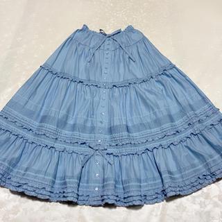 ピンクハウス(PINK HOUSE)のピンクハウス Dolly raceスカート ブルー(ロングスカート)