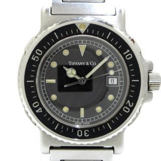 ティファニー(Tiffany & Co.)のティファニー 腕時計 M0711 レディース 黒(腕時計)
