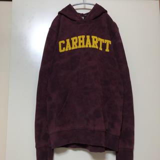 カーハート(carhartt)のUSED 個性派古着 メンズS【カーハート】ブリーチ加工 リメイクパーカー(パーカー)