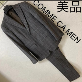 コムサメン(COMME CA MEN)の美品◆COMME CA MEN コムサメン◆ウインドペン チェック セットアップ(セットアップ)