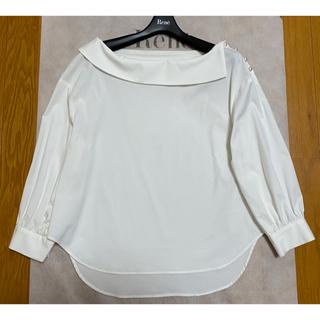ルネ(René)のルネ ロールカラー ブラウス 34 ホワイト(シャツ/ブラウス(長袖/七分))