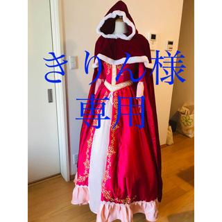 ディズニー(Disney)のベル 愛の芽生ドレス+シンデレラドレス パニエ付き(ロングドレス)