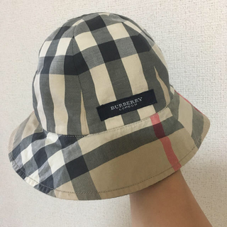 バーバリー(BURBERRY)のベビー帽子 バーバリー リバーシブル(帽子)