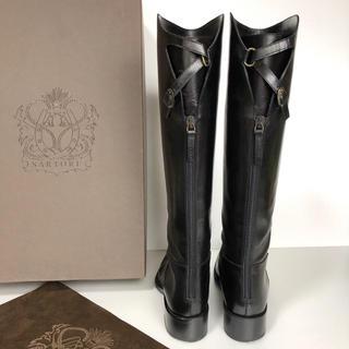 サルトル(SARTORE)の美品 38.5 SARTORE サルトル シングルベルト  ロングブーツ  黒(ブーツ)