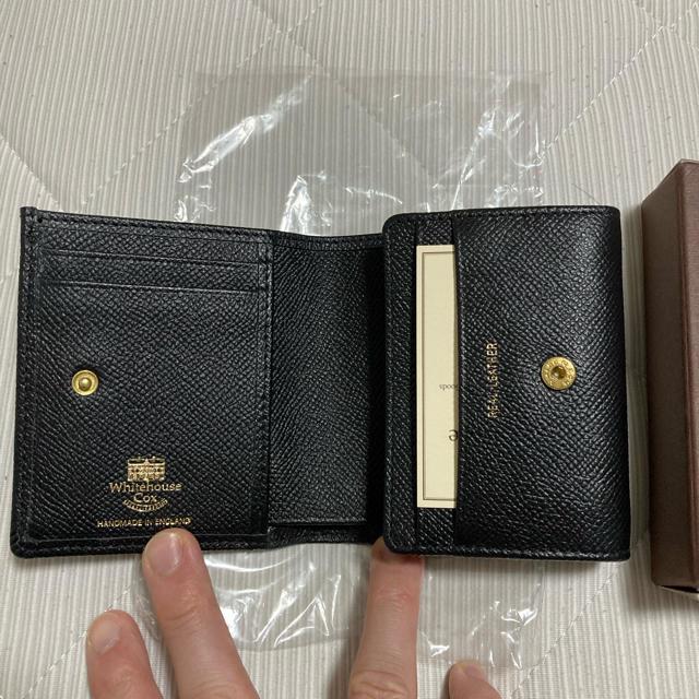 WHITEHOUSE COX(ホワイトハウスコックス)の即完売 LOFTMAN別注 S3158 Compact Wallet-Black メンズのファッション小物(折り財布)の商品写真