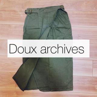 ドゥアルシーヴ(Doux archives)の【Doux archives】カーキラップタイトスカート(ひざ丈スカート)