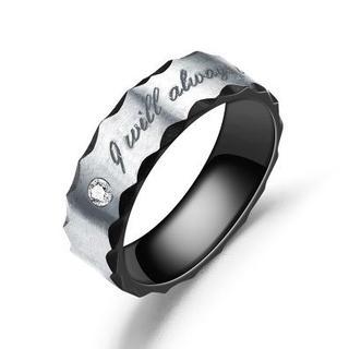 指輪 チタンリング ブラックシルバー(リング(指輪))