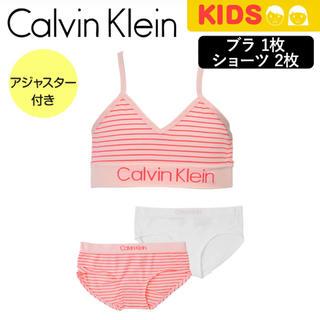 カルバンクライン(Calvin Klein)の【新品】Calvin Klein  スポブラ&ショーツ 上下セット キッズ S(下着)