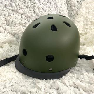 パナソニック(Panasonic)のPanasonic  チャイルドヘルメット S  マットカーキ(ヘルメット/シールド)