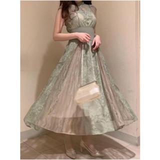 スナイデル(snidel)の新品タグ付き スナイデル スィッチング レース ドレス ワンピ(ロングドレス)