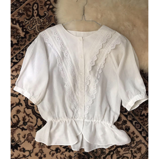 エディットフォールル(EDIT.FOR LULU)のvintage cotton shirt(シャツ/ブラウス(半袖/袖なし))