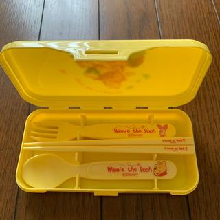 クマノプーサン(くまのプーさん)のプーさん箸フォークセット 最終値下げ(スプーン/フォーク)