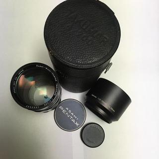 ペンタックス(PENTAX)の美品 TAKUMAR 200mm F4 純正前後CAP 金属フード付 タクマー(レンズ(単焦点))