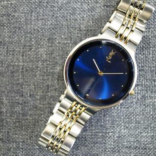 サンローラン(Saint Laurent)の正規品☆イヴサンローラン 腕時計 メンズ 青 サンローラン バッグ 財布 小物(腕時計(アナログ))