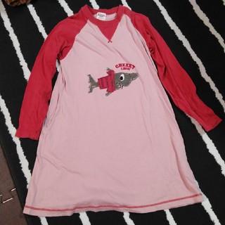 フェリシモ(FELISSIMO)のFELISSIMO サメ 長袖 チュニック ワンピース スカート(ワンピース)